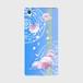 【Xperia Z5 Premium】Peony Dream 芍薬の夢 スカイブルー ツヤありハード型スマホケース