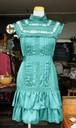 イギリス ドレス ワンピース フリル グリーン 新品