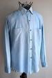 1960's シャンブレーシャツ ポケットずれ フェードブルー 実寸(M位)