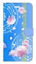 【iPhone6Plus/6sPlus】 Peony Dream 芍薬の夢 スカイブルー 手帳型スマホケース