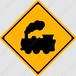 【イラスト】踏切ありの 交通標識