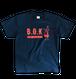 "B.O.K T-shirt ""navy&orange"""
