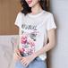 【tops】おしゃれ度高まる プリント合わせやすいカジュアル大好評Tシャツ
