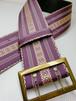 博多織 角帯ベルト 菫色