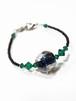 イタリアンガラス羽織紐 グリーン レディース 洒落用 通年 ブレスレット
