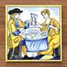 絵タイル:ATM-072s(食事する人たち)