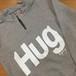 【HUGDOG】HUGスウェット シルバーハーフZIP