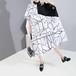レクタングル シャツワンピース ルーズ 韓国ファッション レディース ワンピース 長方形 ゆったりウエスト ロング 大人カジュアル 大人可愛い 623188482459