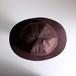 つばの薄い帽子 【Wooly hat】- Brown wool satin -