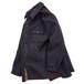 1990's [TOMMY HILFIGER] フリース×ベルベット シャツジャケット ブラック×ディープレッド 表記(L) オールド トミーヒルフィガー