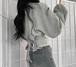 【送料無料】トップス 長袖 セーター ニット リボン結び 可愛い コリアンスタイル カジュアル グレー ホワイト S M L