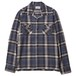OMBRE CHECK OPEN COLLAR SHIRT (BLUE) / RUDE GALLERY BLACK REBEL