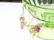 森の花のトライアングル ピアス (シモツケ・サルナシの花)・14kgf《イヤリングに交換可》