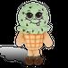 チョコミント アイスクリームの香り【 SuperSniffers 】  香る ぬいぐるみ アメリカンキャラクター エアーフレッシュナー 芳香剤 【 WhifferSniffers 】
