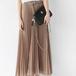 Pleat chiffon long skirt プリーツ シフォン ロング スカート