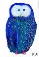 ポストカード「 青フクロウ 」