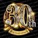 30周年PSD素材 エンブレム仕様。豪華でキラキラPhotoshop素材で周年を彩ろう!