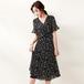 【dress】美人度アップエレガントVネックフリルフェミニン2色デートワンピース