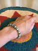 Navajo handmade silver & natural stone beads bracelet ③