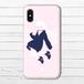 #085-002 iPhoneケース スマホケース iPhoneXS/X おしゃれ 女の子 イラスト Xperia iPhone5/6/6s/7/8 かわいい 少女 ARROWS AQUOS タイトル:pink 作:灰染せんり