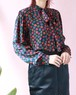 Yves saint laurent silk ribbon blouse