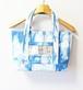 博多織×デニム定番トートバッグM 藍染め ブルー 水色(TB-34)