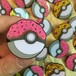"THUMBS""Pokeball Doughnut Glitter Enamel Pin Badge"""