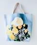 薔薇の花束・トートバッグ2/ブルー