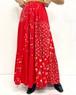 (PAL) patchwork flare long skirt