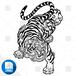 【png画像素材】虎4 Sサイズ  横347px × 縦500px