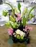 生花アレンジメント(カラー、ユリ、バラ、オーニソガラム)