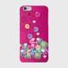 【iPhone6Plus/6sPlus】Tropical Pink トロピカル・ピンク ツヤありハード型スマホケース
