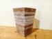 陶器プランツポット デザイン茶柄