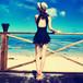 大きいサイズ対応!可愛いスカートワンピース水着♡