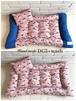 フレブル柄ピンク×デニム L Lサイズ フラットマットベッド