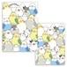 クリアファイル シマエナガのインコと文鳥がいっぱい