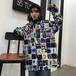 【トップス】配色ファッション長袖シャツ18393405