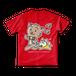 <レッドTシャツ 背面>おさんぽみーちゃん