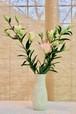 豪華百合10本花束と御前窯の花器(F)