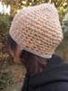 杢糸の壺型きのこニット帽【オレンジ系】