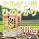 令和元年産 鹿児島県産湧水地区産 カルゲン米ヒノヒカリ 20kg(10kg×2袋) ★送料無料!!(一部地域を除く)★