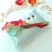 2色のカラーを飾ったペパーミントのリングピロー