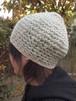 杢糸の壺型きのこニット帽【水色系】