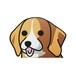 ビーグル(小) 犬ステッカー