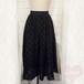 ブラックドットスカート