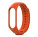 Xiaomi Band3/ Band4 用 交換カラーバンド:オレンジ