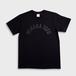 MIHARAアーチTシャツblack×black