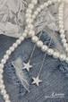 シルバー台のみ Luvita オリジナル SV925 【 Falling Star Earrings 】
