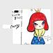 手帳型iPhone Plusケース「MY LITTLE GIRL」