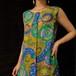 60~70's psychedelic pattern  dress 60~70年代サイケデリック柄ノースリーブワンピース